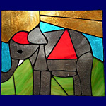Window-pictures - Little elephant