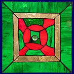 Window-pictures - Green mandala